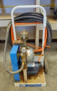 Kraft Tool Co Electric Spray Texture Compressor, With Leeson, 1HP Motor,