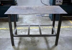 "Heavy Duty Steel Welding Table, 33""x48.5""x24"", Contents Not Included"