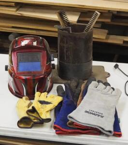 Chicago Variable Shad Welding Helmet, Welding Gloves, Wire Brushes, And More