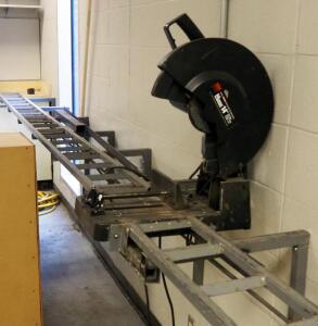 "Morse 14"" Metal Cutting Saw Model CSM14B, Mounted To Stand, Stand Not Included"