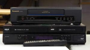 Panasonic Omni Vision VHS Player, And RCA HighFi VCR With DVD Recorder, With Remote