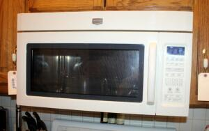 "Maytag Microwave/Hood Combination, Model MMV5208WQ-0, Manufactured 2010, Off White, 16.25"" x 29.75"" x 18"", Bidder Responsible For Proper Disconnection And Removal"