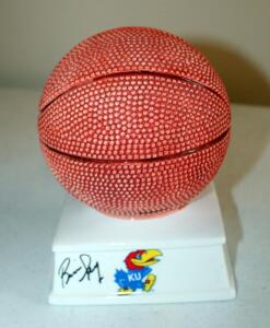 "Ceramic 7.5"" Basketball Bank Signed By Bill Self"