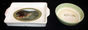 Irish Themed Ceramic Serving Pieces Including Handled Serving Tray With Irish Blessing And Abbey Press Irish Blessing Bowl