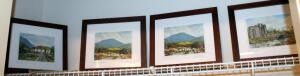 "Irish Art Print Collection By Tim Maloney, All Are Framed & Matted Under Glass, With COAs, Numbered 189/2000, 261/2000, 1,409/2000, Signed By The Artist, 12"" x 14"", Total Qty 4 Pieces"