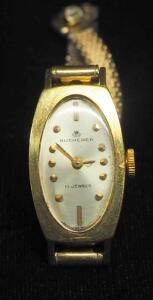 Bucherer 18K 17-Jewel Wristwatch, Band Is 1/20 10K GE