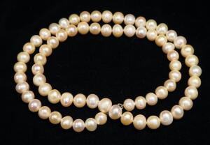 "Fresh Water Pearl Necklace, Believed To Be Real Pearl, Approx 24.5"" Long"