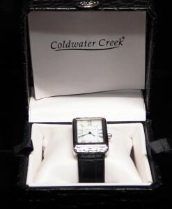 Coldwater Creek Ladies Croc N Scroll Wristwatch, In Box