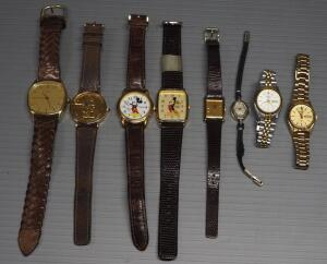 Wrist Watch Collection, Brands Include Timex, Seiko, Lorus, And More, Total Qty 8