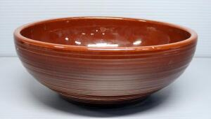 "McCoy Pottery No. 654 Suburbia Ware Large Mixing Bowl, 3.75"" x 10"" Dia."