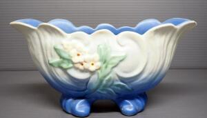 "Weller Wild Rose Footed Bowl, 4.5"" H x 10"" Long"