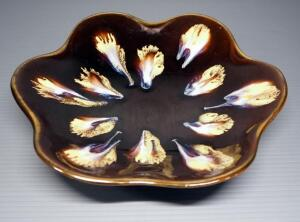 "German Ceramic Decorative Plate With 1920/28 On Bottom, 11"" Dia."