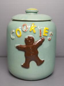 "McCoy Gingerbread Man Cookie Jar With Lid, 10"" H With Lid"