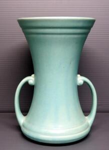 "Nelson McCoy Pottery Double Handled Vase, 10.5"" High"