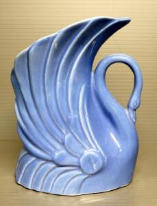 "Niloak Pottery Swan Planter, 7"" High"