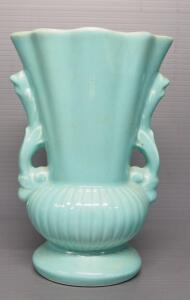 "Redwing Pottery 2-Handled Vase No. 2354, 8"" High"