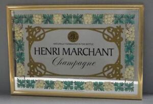 "Henri Marchant Champagne Bar Mirror, 25.25"" Wide x 17.25"" High"