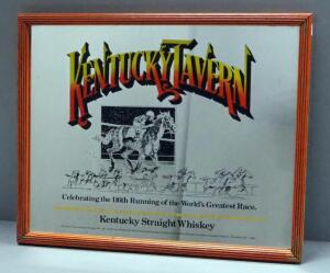 "Kentucky Tavern Kentucky Straight Whisky Bar Mirror, 21"" Wide x 17"" High"