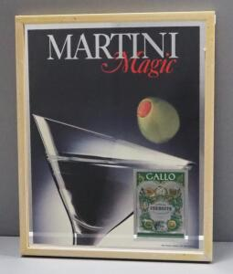 "Gallo Martini Magic Bar Mirror, 16"" Wide x 20"" High"