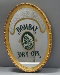 "Bombay Dry Gin Bar Mirror, 18"" Wide x 26"" High"