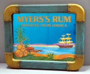 "Myers's Rum Bar Mirror, 19.5"" Wide x 15.5"" High"