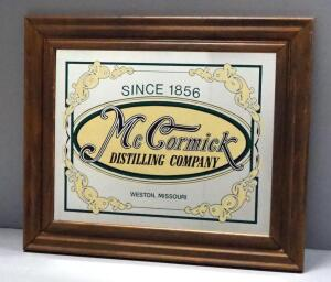 "McCormick Distilling Co. Bar Mirror, 25.5"" Wide x 21.5"" High"