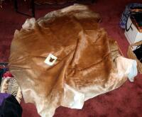 Authentic Tanned Cow Hide Rug, Approx. 40 Square Feet, New, With Tag - 3