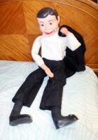 Vintage Ventriloquist Doll In Tuxedo, Working Mouth, Includes Shoes