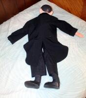 Vintage Ventriloquist Doll In Tuxedo, Working Mouth, Includes Shoes - 2