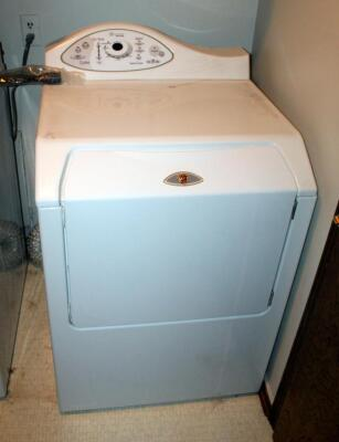 "Maytag Neptune Electric Dryer, Model MDE5500AYW, 41.5"" x 27"" x 27.5"", Powers On"