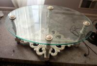 "Oval Glass Top Table, 15.5"" x 34"" x 23"" - 2"