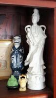 Asian Inspired Collectibles Including, Buddhas, Cinnabar Vase, And More - 4