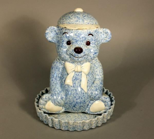 Bear with jar and tray