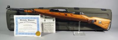 Mauser-Werke 98K BCD4 8mm Bolt Action Rifle SN# 4462, Refurbished By Mitchell Mauser, Nazi Symbols, Leather Sling, And Paperwork, In Hard Case