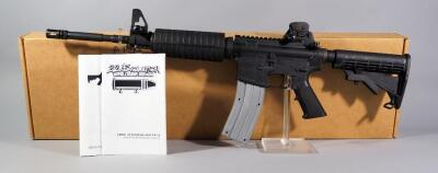 CMMG MK-4 AR-15 .22 LR Rifle SN# SCM-107080, 3 Total Mags, Adjustable Stock, Fluted Muzzle, In Box