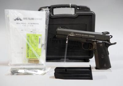 Rock Island Armory M 1911 A2-MM .22TCM Pistol SN# TCM004480, Additional 9mm Bbl, 2 Total Mags And Paperwork, In Hard Case