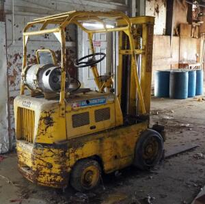 Clark Propane Powered Forklift, Unknown Working Order, Needs Repair, Bidder Responsible For Removal, Unknown Model