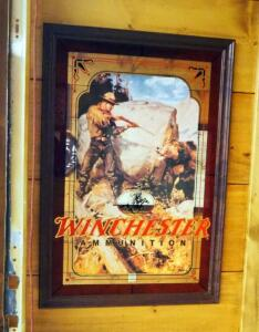 "Framed Winchester Ammunition Mirrored Back Wall Print, 32.5"" x 22.5"""