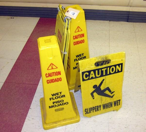 Lot 176wet Floor Signs