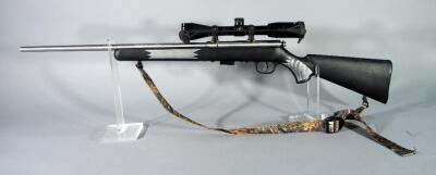 Savage 93R17 .17 HMR Bolt Action Rifle SN# 2211105, With BSA Deerhunter 3-9x40 Scope And Camo Sling