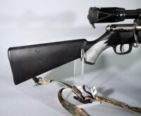 Savage 93R17 .17 HMR Bolt Action Rifle SN# 2211105, With BSA Deerhunter 3-9x40 Scope And Camo Sling - 12