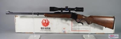 Ruger No.1 300 H&H MAG Lever Action Rifle SN# 134-34127, With Zeiss Conquest 3-9x40 MC Scope, In Original Box