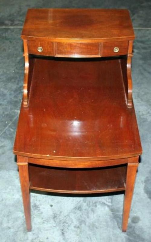 Lot 35 Of 317 Mersman 7384 Step End Table With Shelf And Drawer Rox 17 W X 26 D 27 H