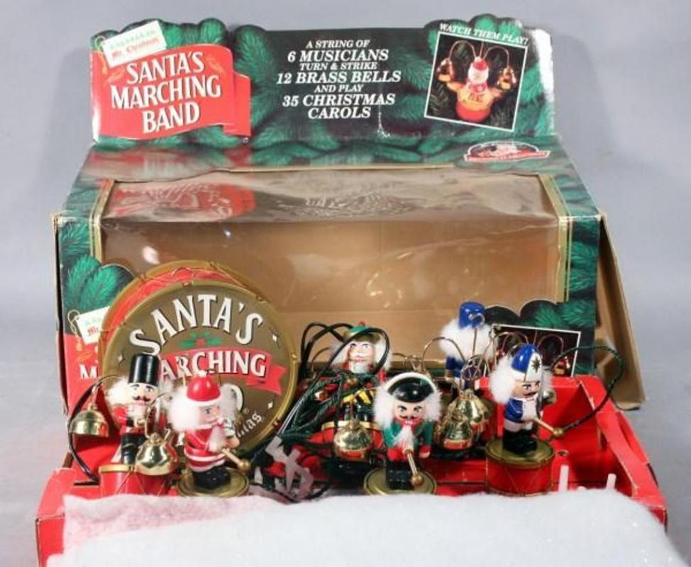 lot 240 of 468 mr christmas santas marching band in box animated toy plays 35 christmas carols