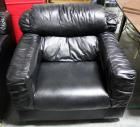 "Leather Style Cushioned Arm Chair Approx 37"" W x 35"" D"