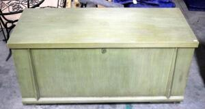"Vintage Cavalier Cedar Chest, Center of Shelf Has Cosmetic Damage. Approx 21"" H x 44"" W x 18.5"" D"