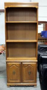 "Book Shelf with Cabinets Below Approx 76"" H x 28"" W x 13"" D"