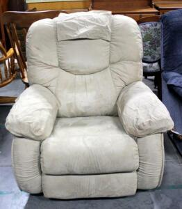 Tan Lazy Boy Suede Style Recliner