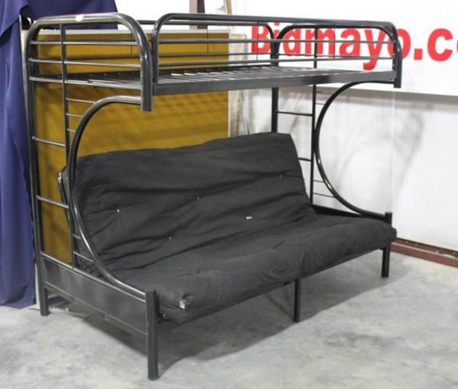 Peachy All In One Futon Couch Bunk Bed With Black Metal Frame And Uwap Interior Chair Design Uwaporg