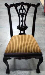 "Carved Ornate Upholstered Chair - Seat is 21""H"
